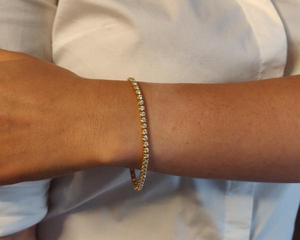 2.70ct 18k yellow gold diamond tennis bracelet br014