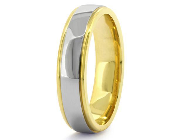 Yellow gold and Palladium Gents wedding ring GWR3003