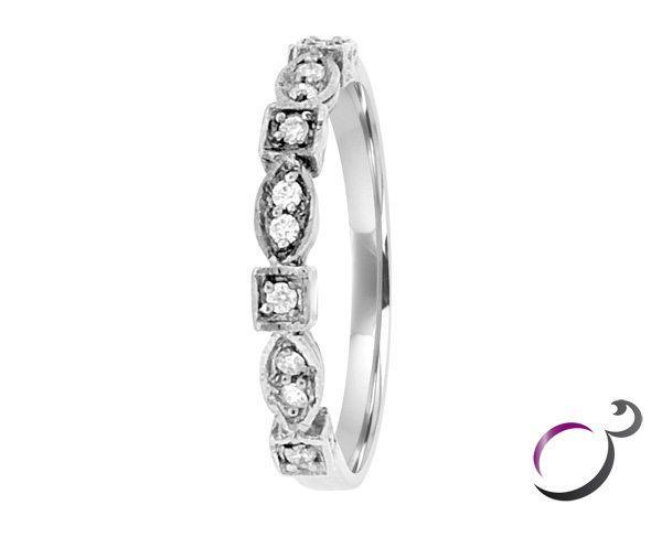 Vintage style diamond wedding ring Dublin wr019